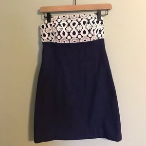 Lily Pulitzer Strapless Dress Size 0